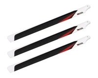 JR Carbon Main Rotor Blades 600 mm set of 3